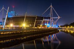 Cardiff Millennium Stadium (technodean2000) Tags: cardiff south wales uk nikon d5200 night skyline architecture d610 rugby ground world cup football stadium millennium