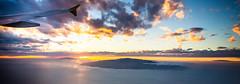Canary islands (Zeeyolq Photography) Tags: airplane canaryislands clouds plane sea sky sunset icoddelosvinos canarias espagne