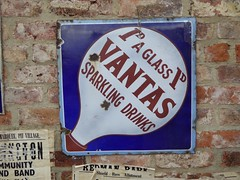 """""""Sparkling Drinks"""" (Terry Pinnegar Photography) Tags: beamish museum countydurham sign advertisement vitreous enamel metal vintage edwardian antique vantas sparkling drink aerated"""