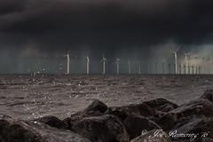 Windmills (josreimering1) Tags: wind windmills turbines lake water ijsselmeer electricity elektriciteit storm urk noordoostpolder dark sky rocks thenetherlands holland