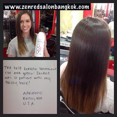 The best Brazilian Keratin treatment i've ever gotten!!! If you also want to experience the QOD keratin experience in Bangkok then Zenred hair salon Bangkok is just a phone call away. Join us 0836006176 #brazilianketatin #bangkokkeratin #keratinthailand #