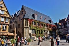 Quedlinburg: Rathaus (zug55) Tags: rathaus cityhall market markt marktplatz quedlinburg deutschland germany sachsenanhalt saxonyanhalt harz unescoworldheritagesite unesco unescowelterbe welterbe worldheritagesite