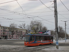 71-623-02, вагон #153 (stanislavkruglove) Tags: pavlodar павлодар 2016 tram уквз 7162302 153