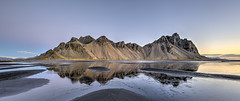 Reflections before Dawn (Nick L) Tags: vestrahorn vesturhorn hofn lagoon reflection landscape canonef1124f4l sunrise dawn blacksand iceland southerniceland southeasticeland wow brilliant