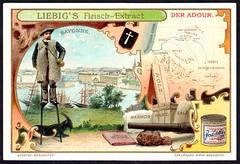 Liebig Tradecard S733 - The Adour (cigcardpix) Tags: tradecards advertising ephemera vintage chromo liebig france