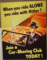 "WWII OPA ""Car Pool Nazi"" Poster - Hitler is Looking for a Pick Up (ramalama_22) Tags: world california county orange pool hat car price lady germany book centennial office los war iron alone open ride cross control angeles ryan top pat nazi hitler wwii experiment tie first exhibit nixon suit linda toll freeway sharing express carpool adolf administration opa yorba lanes ration patrica rationing"