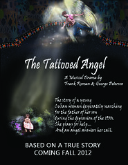 Tattooed Angel Concept 1 (DeniseCamporeale) Tags: garden visitation shedlight tattooedangelmusicaldramafrankromangeorgepetersencubanwomansonplaytheatertheatricalposterstrainedglass