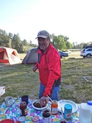russ at bfast (maureenld) Tags: camping friends fun 40th bash may db annual russ pinnacles 2012 pinnaclesnationalmonument bethereorbesquare desertbash btobs