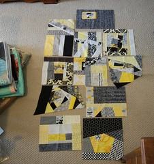 BaMS blocks (jaceycraft) Tags: improv bams wips scrappy quiltblocks grellow
