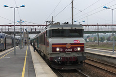20130503 007 Chteau-Thierry. 15003 Pauses With Train 839116, 06.36 St Dizier-Paris Est (15038) Tags: france electric trains locomotive railways sncf 15003 chteauthierry bb15000