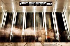 Busy Escalators (Ilko Allexandroff / イルコ・光の魔術師) Tags: japan long exposure 大阪 日本 osaka umeda 梅田 阪神 ilko 阪急 エスカレーター