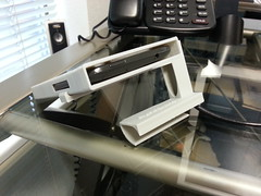 """Desktop Recumbent Office Phone (DROP) - 3D Printed HTC One X Stand <a style=""""margin-left:10px; font-size:0.8em;"""" href=""""http://www.flickr.com/photos/95290524@N03/8796312342/"""" target=""""_blank"""">@flickr</a>"""