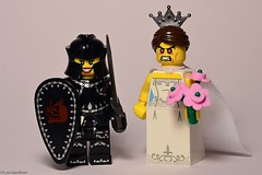 365 No317 2013-05-23 Bridezilla (LynG67) Tags: bride nikon lego sword shield minifigs armour joanofarc bridezilla minifigures d5100
