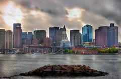 Stormy Boston Skyline (Drone Photography) Tags: park city urban house storm wet rain boston skyline hub river cityscape matthew piers overcast stormy charles explore universal custom hdr bostonist woitunski