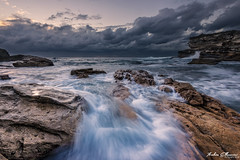 Rush at Little Bay (ibbyhusseini) Tags: longexposure sky sun seascape art sunrise landscape bay nikon soft waves little snapshot smooth sydney australia moment d800 littlebay leefilters nikond800 sundancenewcastle ibbyhusseini