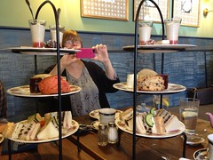 Ladies' Tea (barefootsong) Tags: friends tea eats