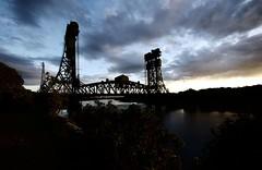 NEWPORT BRIDGE 22 (john holland 1962) Tags: bridge night river north newport fc middlesbrough tees boro teeside ormesby ts3