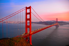 Golden Gate Bridge at Sunset - San Francisco California (mbell1975) Tags: sf sanfrancisco california ca bridge pink sunset sky orange usa water america puente golden evening bay us highway gate san francisco unitedstates bur dusk calif ponte hwy 101 most american pont bro brug tor brücke brig köprü goldenes bouwwerk impressedbeauty goldenestorbrücke mygearandme blinkagain vigilantphotographersunite ilobsterit