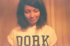 is yalo dork? (Alexey Tyudelekov) Tags: film girl smile face pretty tshirt petersburg dork kiev olya kiev4 yalo