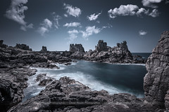 Ouessant island (Olivier Maurin   CoolGraph) Tags: sea seascape france clouds island rocks ile bretagne nuages paysages rochers ouessant poselongue longueexposure nikond4 nikkor1635f4 oliviermaurin filterbw110