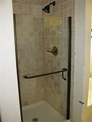 Downstairs Full Bath with Travitine Shower (Jones192347) Tags: way 12 lonestar 4856