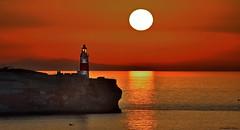 Sunrise on Europa Point (Pensioner Percy, very slow at the moment) Tags: vacation sunrise wow nikon lighthouses mediterranean po gibraltar cruises europapoint mediterraneancruise d7100 gibraltarstraits nikon55200mmlens poazura nikond7100 pensionerpercy sirgeorgeharding