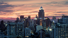BK Sunset 0947 (d5e) Tags: sunset urban tower skyline availablelight bangkok beautyshot metropolitan contrejour backlighting crc mtower