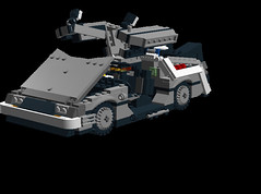 Delorean DMC-12 Time Machine all open (LegoNoitAllMocs) Tags: car model lego time render machine build delorean flyingcar dmc backtothefuture hover moc buildingtoys backtothefuturepart2