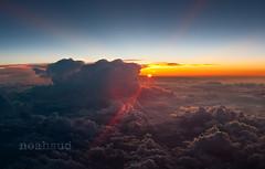 Flight 6779 (NoahSud) Tags: travel sunset sky sun color colour horizontal clouds europe nopeople colorimage noahsud lpreturn