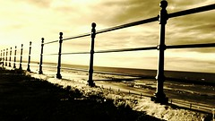 Railing (Lee Summerson) Tags: sunshine railing headland hartlepool flickrandroidapp:filter=none