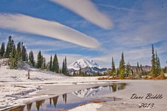 Mt Rainier revisited. (littlebiddle) Tags: nature water washington sony alpha amount a700 onlythebestare cloudsstormssunsetssunrises