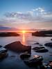 Brenton Point (Ryan Silva) Tags: longexposure sunset sky beach water rocks olympus omd em5 lightcraftworkshop