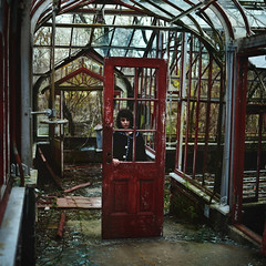 Breaking Through (Callan Kapush) Tags: door woman abandoned broken glass girl female square photography scary nikon brokenglass eerie reddoor greenhouse portraiture stephanie conceptual squarecrop rundown expansion abandonedbuilding brownhair abandonedfactory portraitphotography 35mmlens breakingthrough brokendoor conceptualphotography stephanieperez abandonedgreenhouse brookeshaden nikond3100 brookeshadenworkshop stephpez callankapush callankapushphotography brookeshadenphotography lilapurdy