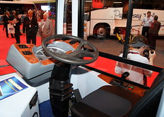 Cannon 150BEL (chrisbell50000) Tags: show england bus birmingham interior cab centre exhibition deck national single cannon inside nec decker 2013 coachandbuslive chrisbellphotocom 150bel