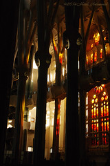 Mystique Gaudi (Natali Antonovich) Tags: barcelona light reflection architecture spain shadows catalonia sagradafamilia mistery antonigaud barcelonaspain sunnybarcelona mystiquegaudi