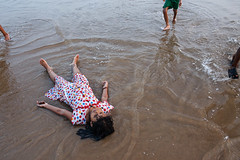 Sea - Puri, India (Maciej Dakowicz) Tags: sea india beach water children holidays orissa puri odisha