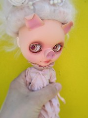 Miss Pigionette (BlytheOwl ..crafty...see profile) Tags: doll blythe piggie squeakymonkey pigdoll blytheowl blythepig pigblythe misspigionette