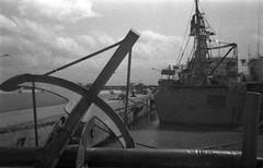 On a boat (Minimal Cinema) Tags: bw film 35mm blackwhite lomo lomography grain lofi damaged rodinal expired ilford fp4 1100 werlisa 125asa standdevelopment r09 clubcolor