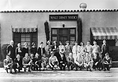 1930 group photo at the Disney Hyperion Studio