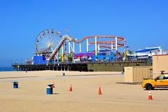 Santa Monica Pier 80mm (Joe Lach) Tags: california beach pier sand santamonica lifeguard pacificocean ferriswheel rides rollercoaster santamonicapier pacificpark cones joelach