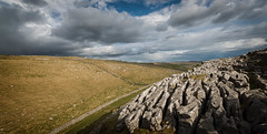 Watlows dry valley and the distant storm (Malajusted1) Tags: park way cove yorkshire dry national valley pennine dales malham skipton malhamcove gargrave wallows