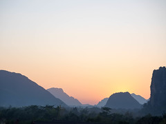 Sonnenuntergang Vang Vieng
