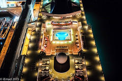 The cruise-ship from above... (EHA73) Tags: nightphotography night port dock singapore aerialview cruiseship cablecar sentosaisland leicamp summiluxm11450asph typ240