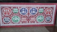 ART AT THE AIRPORT 120315 (Esani (Nibedita)) Tags: art march artist folkart folk famous scenic serene tradition sublime orissa puri 2015 raghurajpur traditionalfolkart of pattachitra 120315 odisha orissatourism esani puridistrict esaninibedita march2015