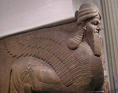 Lamassu (jere7my) Tags: greatbritain vacation england sculpture london statue museum unitedkingdom britishmuseum colossal lamassu 2014 wingedlion nimrud ashurnasirpalii