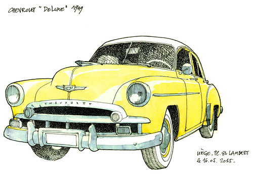 Chevrolet DeLuxe 1949 (gerard michel) Tags: auto chevrolet sketch croquis ancêtre