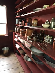 (39) Kitchen Storage (Foxy Belle) Tags: ny history kitchen museum century closet living early farmers cabinet 1800s cook storage historic american pottery shelves 19th cooperstown bakeware