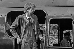 Footplate look (Nigel Gresley) Tags: footplate people east lancashire railway bygone days