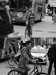 [La Mia Citt][Pedala] (Urca) Tags: milano italia 2016 bicicletta pedalare ciclista ritrattostradale portrait dittico bike bicycle biancoenero blackandwhite bn bw 89122