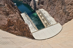Base of Hoover Dam II (dr_marvel) Tags: dam hoover hooverdam nevada arizona water power hydroelectric electricity concrete cement